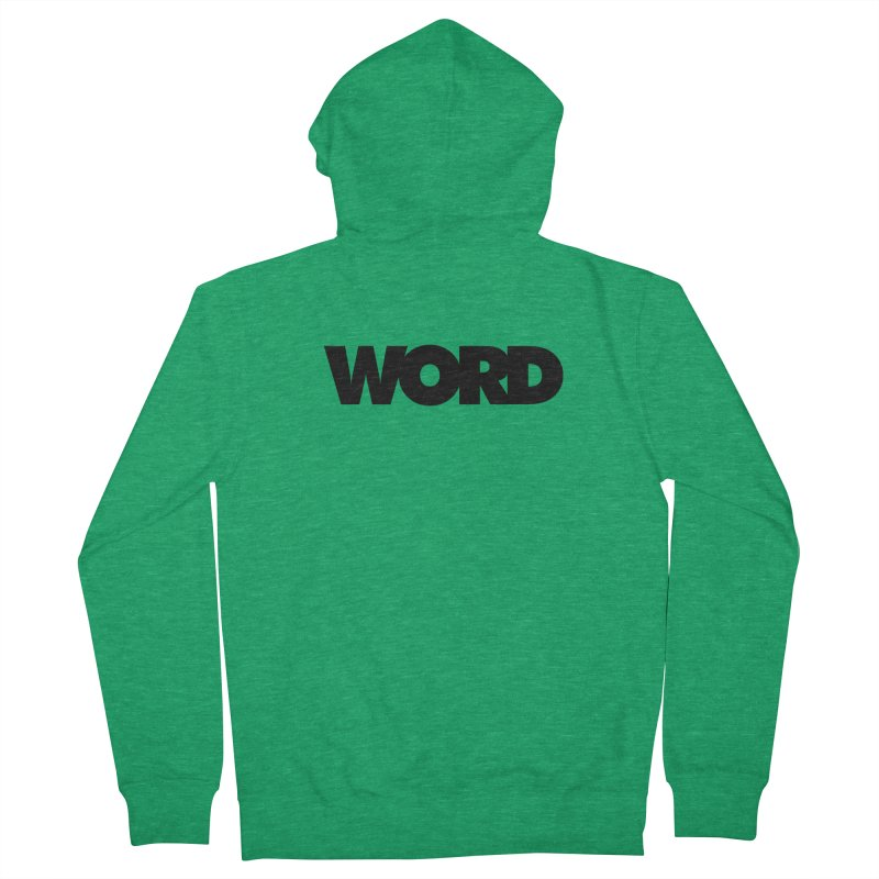 WORD. Men's Zip-Up Hoody by CRANK. outdoors + music lifestyle clothing