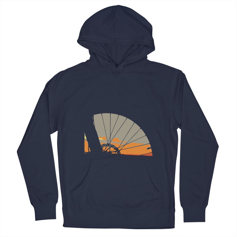 MTB Sunset  Men's Pullover Hoody by CRANK. outdoors + music lifestyle clothing