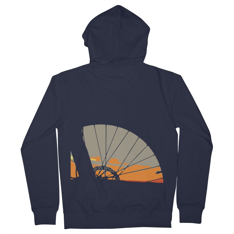 MTB Sunset  Women's Zip-Up Hoody by CRANK. outdoors + music lifestyle clothing