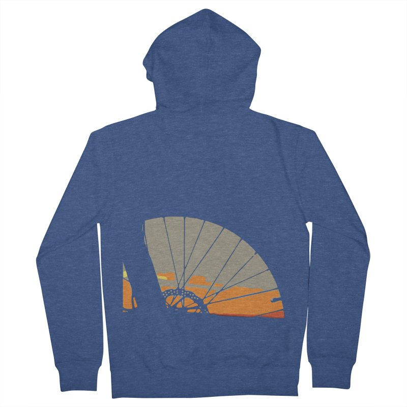 MTB Sunset  Men's Zip-Up Hoody by CRANK. outdoors + music lifestyle clothing