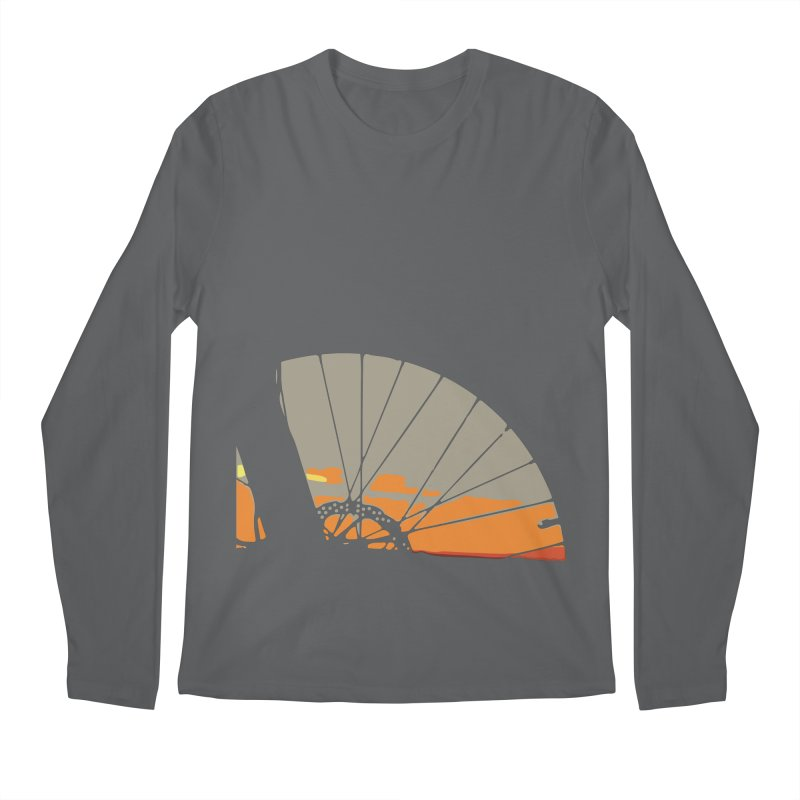MTB Sunset  Men's Longsleeve T-Shirt by CRANK. outdoors + music lifestyle clothing