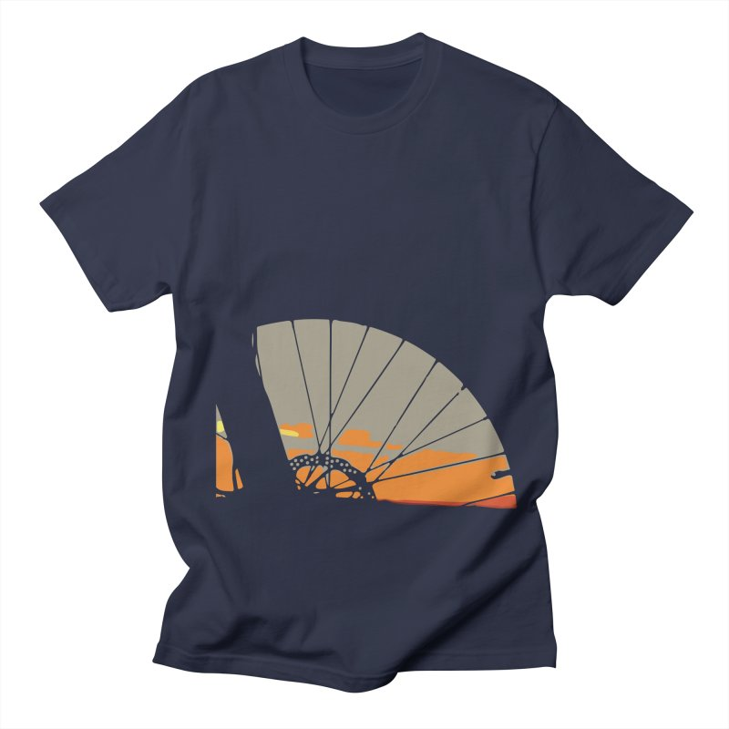 MTB Sunset  Men's T-Shirt by CRANK. outdoors + music lifestyle clothing