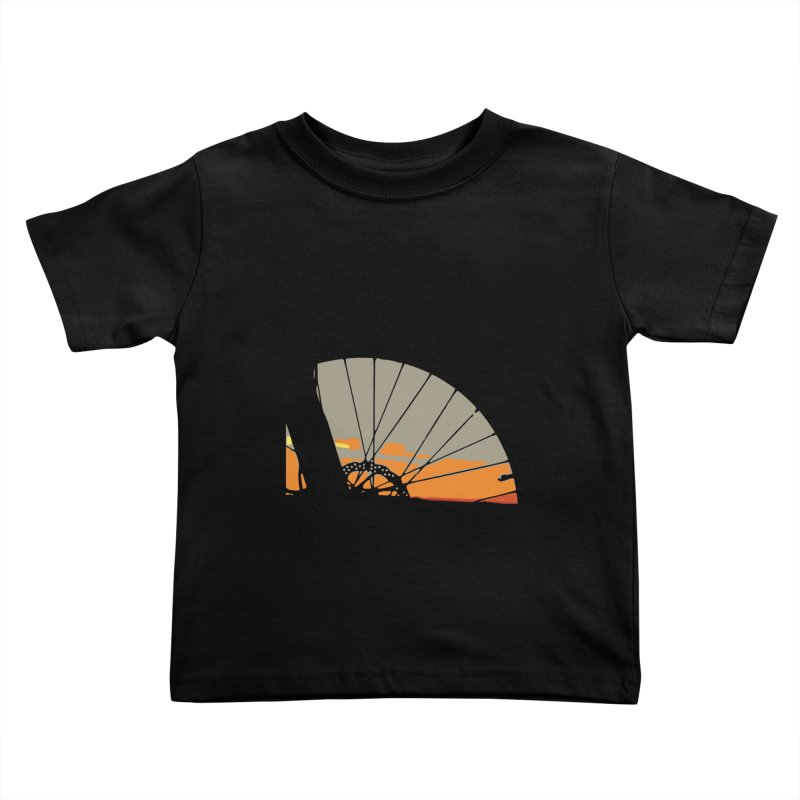 MTB Sunset  Kids Toddler T-Shirt by CRANK. outdoors + music lifestyle clothing