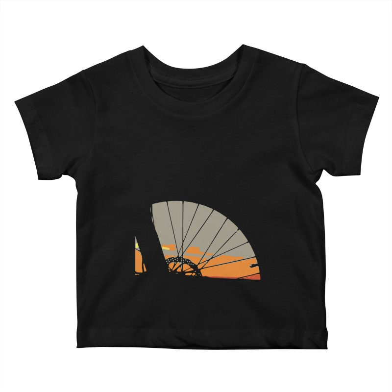 MTB Sunset  Kids Baby T-Shirt by CRANK. outdoors + music lifestyle clothing
