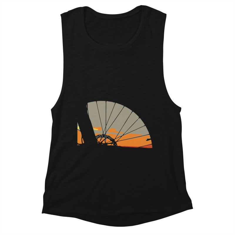 MTB Sunset  Women's Tank by CRANK. outdoors + music lifestyle clothing