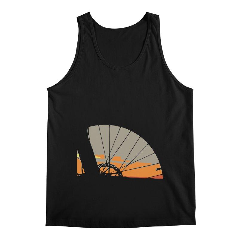 MTB Sunset  Men's Regular Tank by CRANK. outdoors + music lifestyle clothing