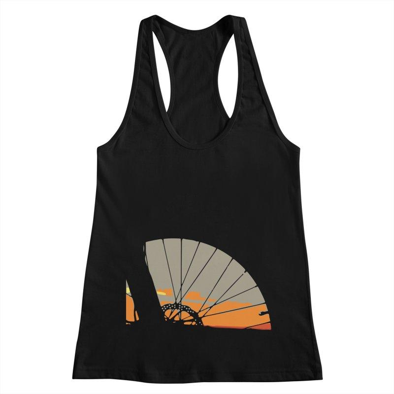 MTB Sunset  Women's Racerback Tank by CRANK. outdoors + music lifestyle clothing