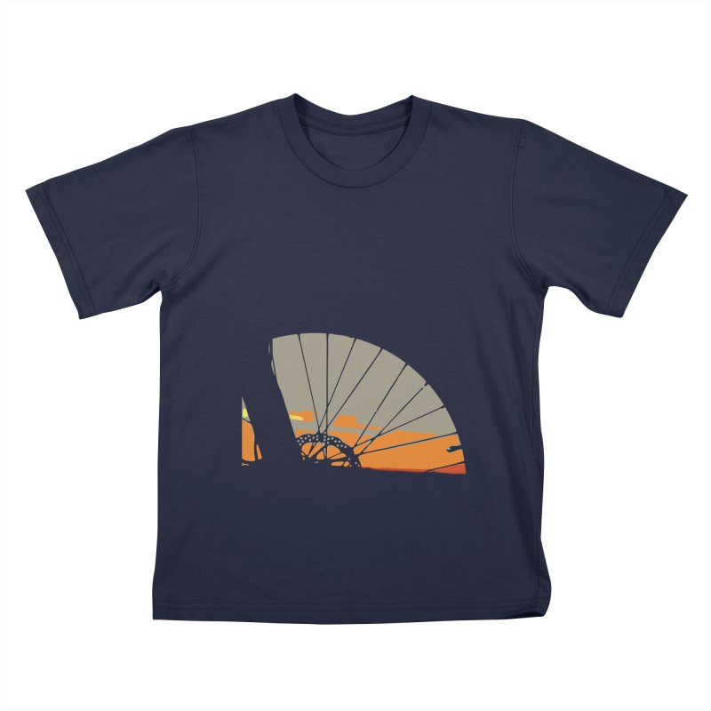 MTB Sunset  Kids T-Shirt by CRANK. outdoors + music lifestyle clothing