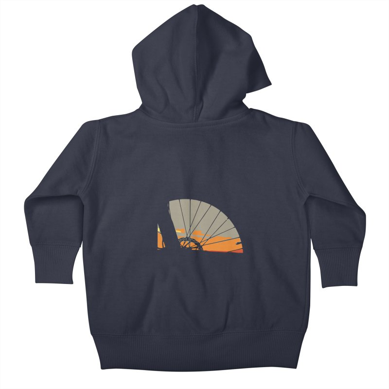 MTB Sunset  Kids Baby Zip-Up Hoody by CRANK. outdoors + music lifestyle clothing