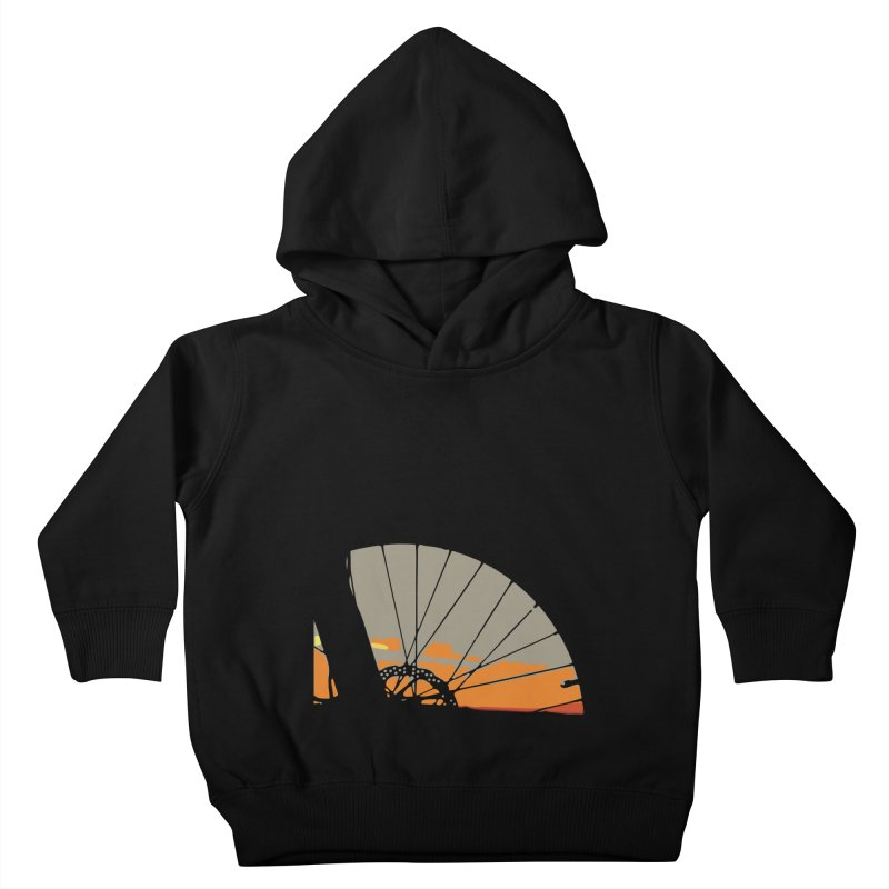 MTB Sunset  Kids Toddler Pullover Hoody by CRANK. outdoors + music lifestyle clothing