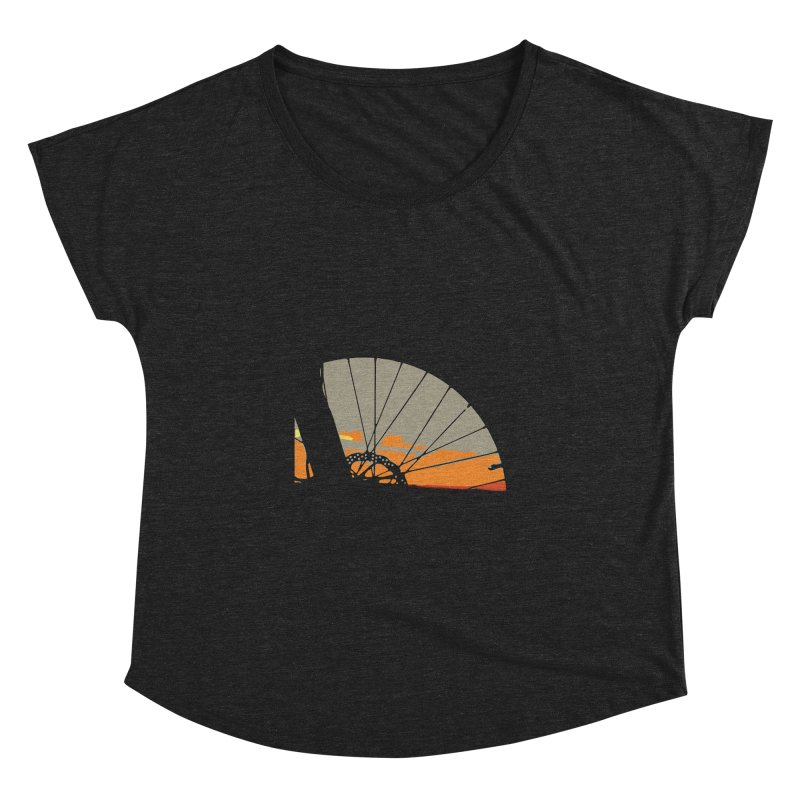 MTB Sunset  Women's Dolman Scoop Neck by CRANK. outdoors + music lifestyle clothing