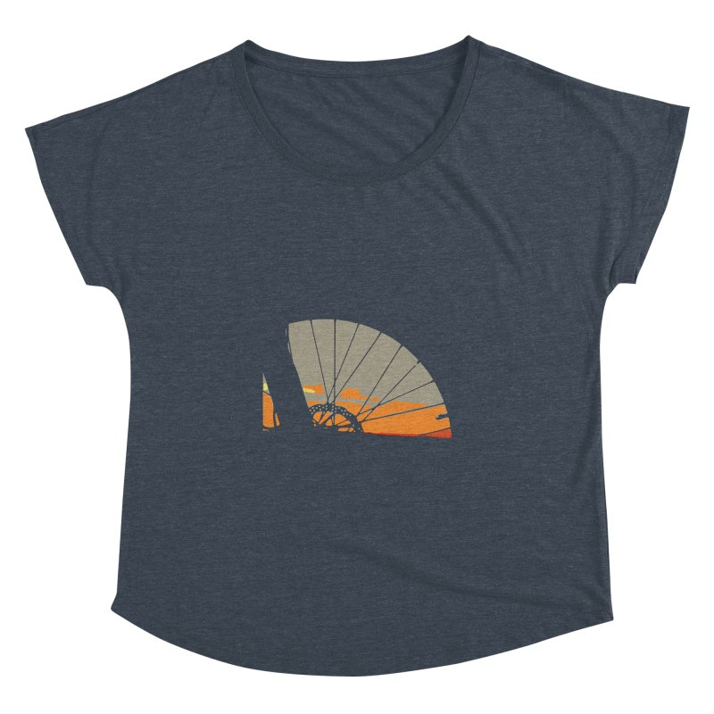 MTB Sunset  Women's Dolman by CRANK. outdoors + music lifestyle clothing