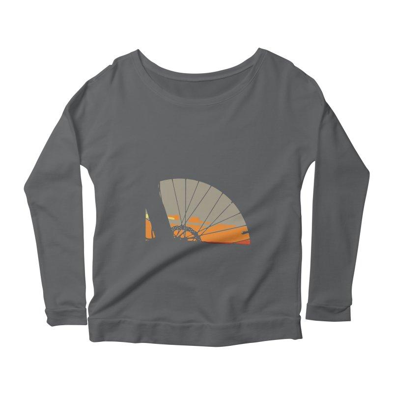 MTB Sunset  Women's Longsleeve T-Shirt by CRANK. outdoors + music lifestyle clothing