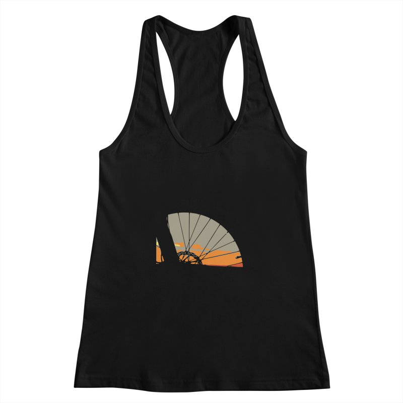 MTB Sunset  Women's Racerback Tank by CRANK. outdoors + music lifestyle clothing