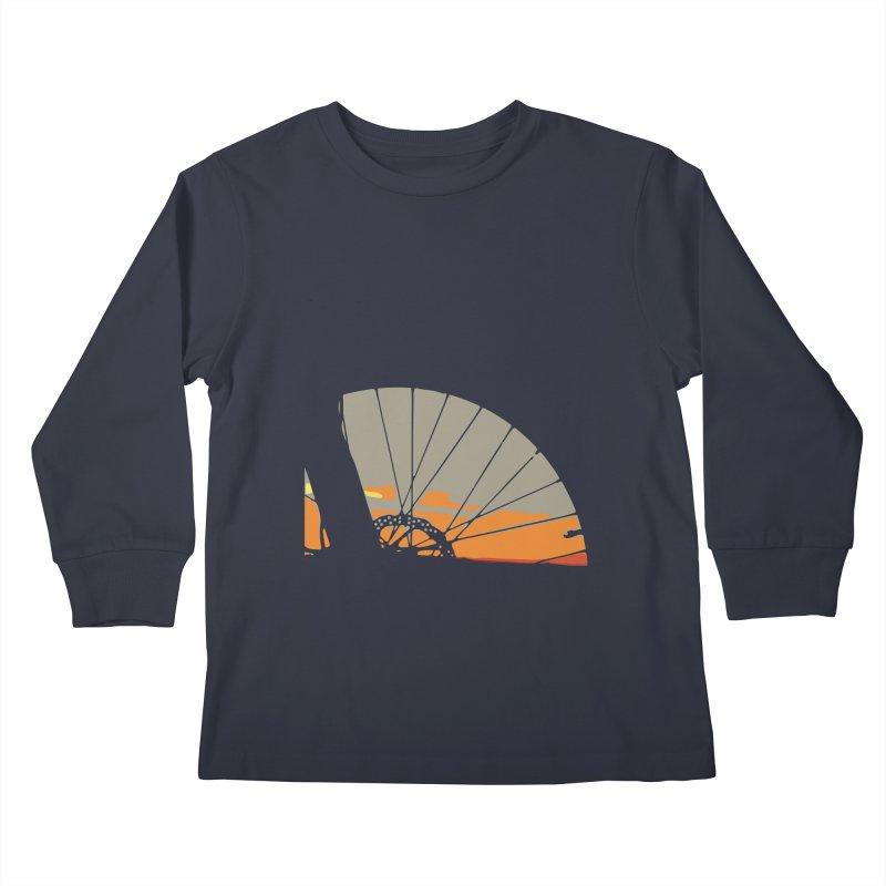 MTB Sunset  Kids Longsleeve T-Shirt by CRANK. outdoors + music lifestyle clothing