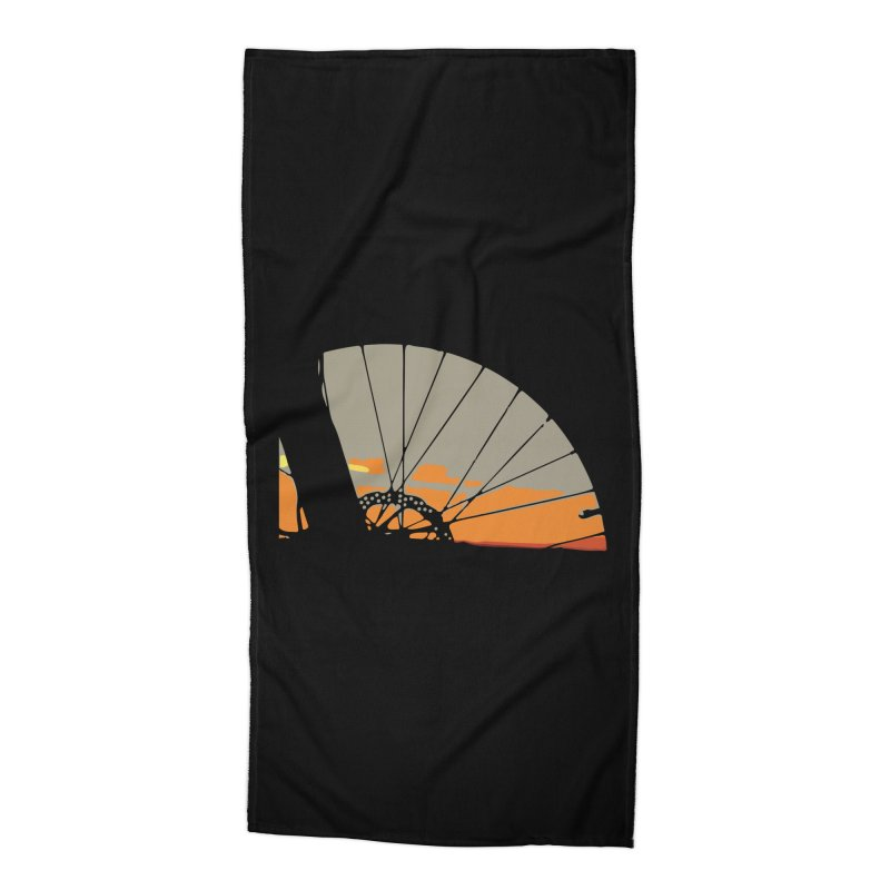 MTB Sunset  Accessories Beach Towel by CRANK. outdoors + music lifestyle clothing