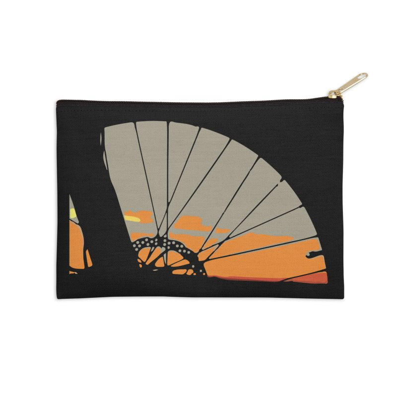MTB Sunset  Accessories Zip Pouch by CRANK. outdoors + music lifestyle clothing