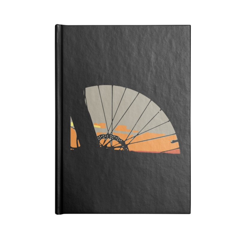 MTB Sunset  Accessories Notebook by CRANK. outdoors + music lifestyle clothing
