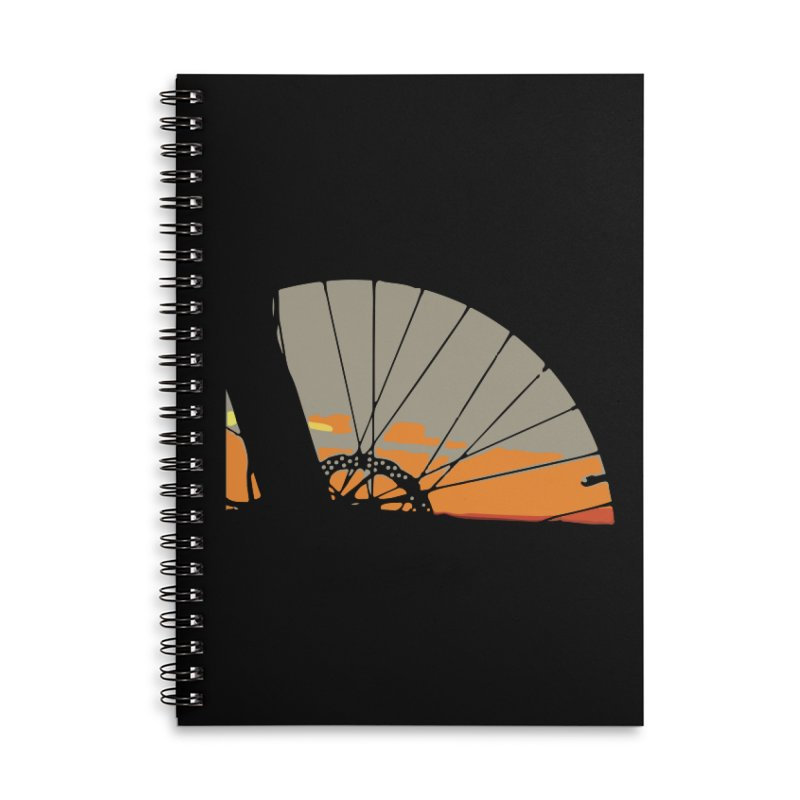 MTB Sunset  Accessories Lined Spiral Notebook by CRANK. outdoors + music lifestyle clothing