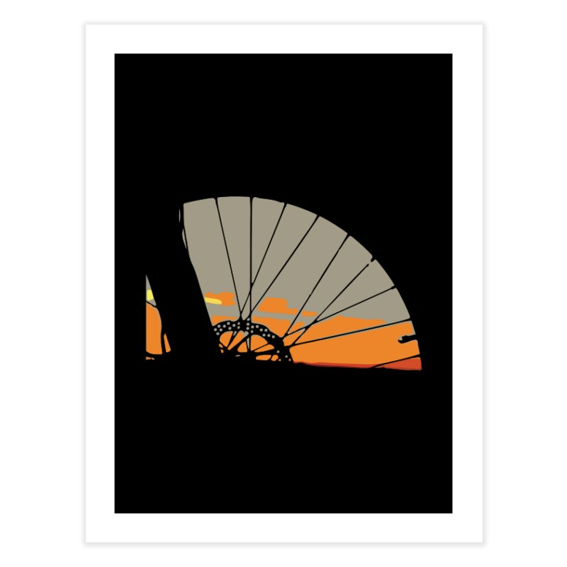 MTB Sunset  Home Fine Art Print by CRANK. outdoors + music lifestyle clothing