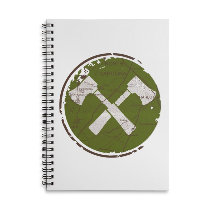 Trail Maker - Foothills Edition Accessories Lined Spiral Notebook by CRANK. outdoors + music lifestyle clothing