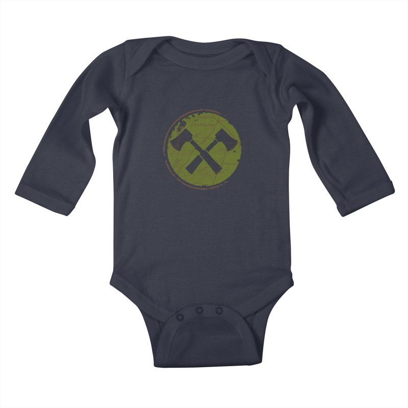 Trail Maker - Foothills Edition Kids Baby Longsleeve Bodysuit by CRANK. outdoors + music lifestyle clothing