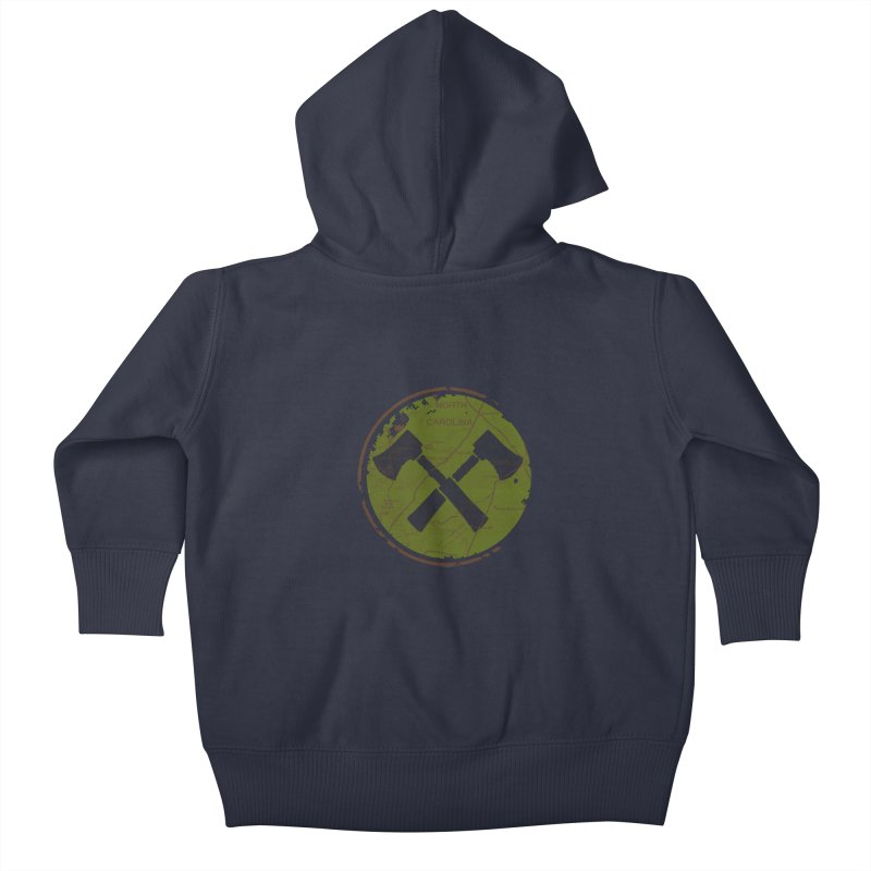 Trail Maker - Foothills Edition Kids Baby Zip-Up Hoody by CRANK. outdoors + music lifestyle clothing