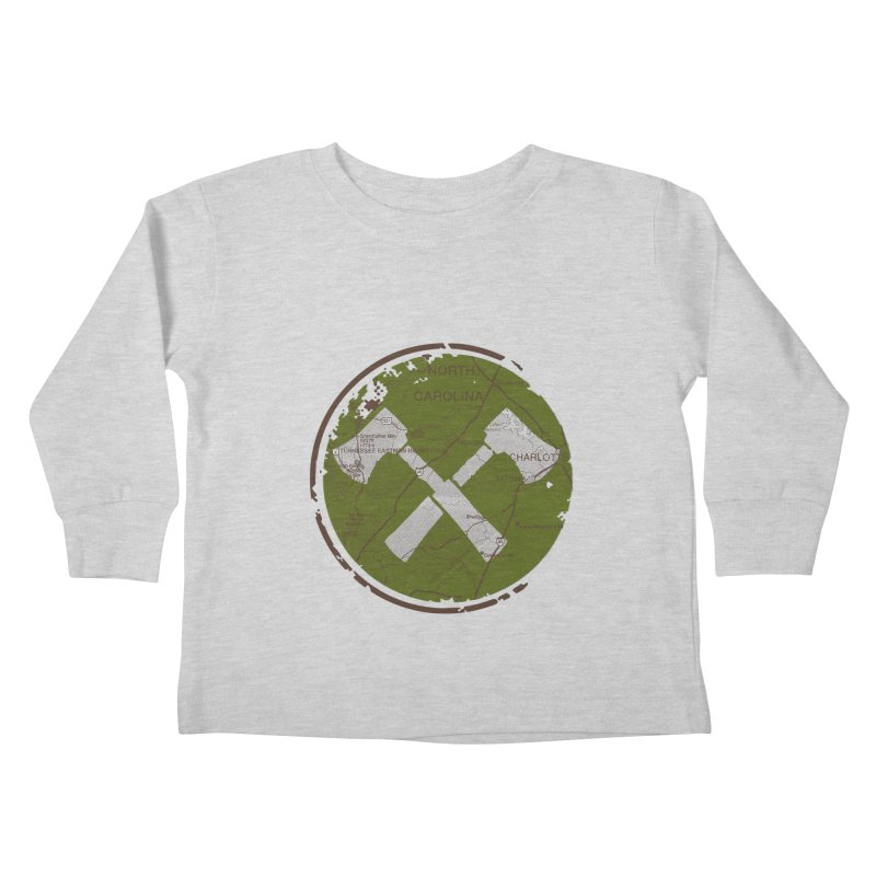 Trail Maker - Foothills Edition Kids Toddler Longsleeve T-Shirt by CRANK. outdoors + music lifestyle clothing