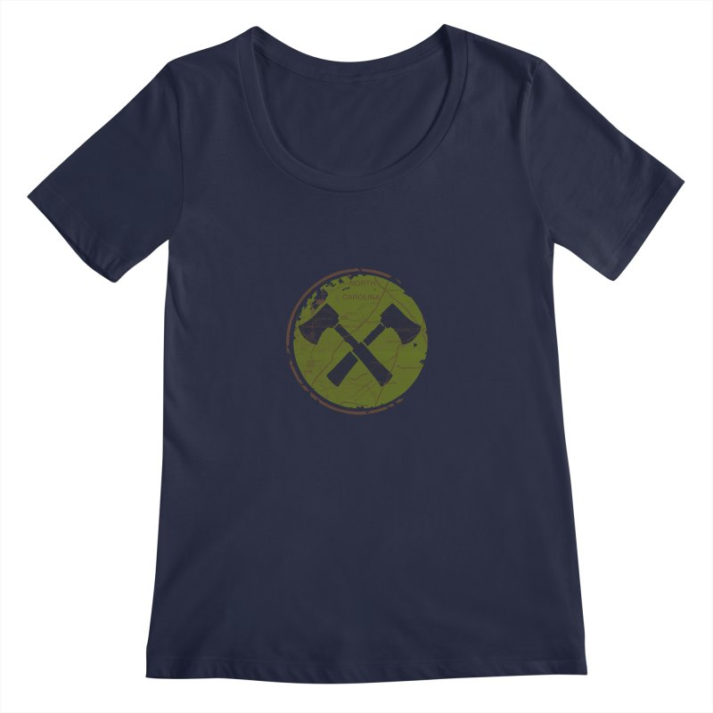 Trail Maker - Foothills Edition Women's Regular Scoop Neck by CRANK. outdoors + music lifestyle clothing