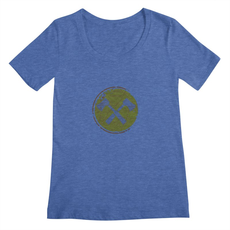 Trail Maker - Foothills Edition Women's Scoopneck by CRANK. outdoors + music lifestyle clothing