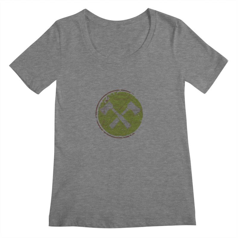 Trail Maker - Foothills Edition Women's Scoop Neck by CRANK. outdoors + music lifestyle clothing