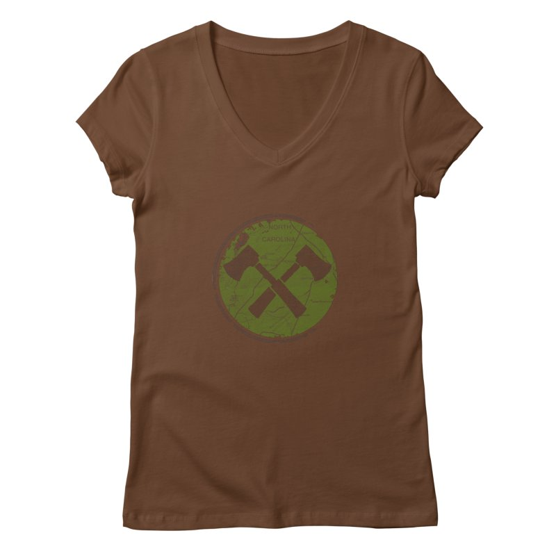 Trail Maker - Foothills Edition Women's Regular V-Neck by CRANK. outdoors + music lifestyle clothing