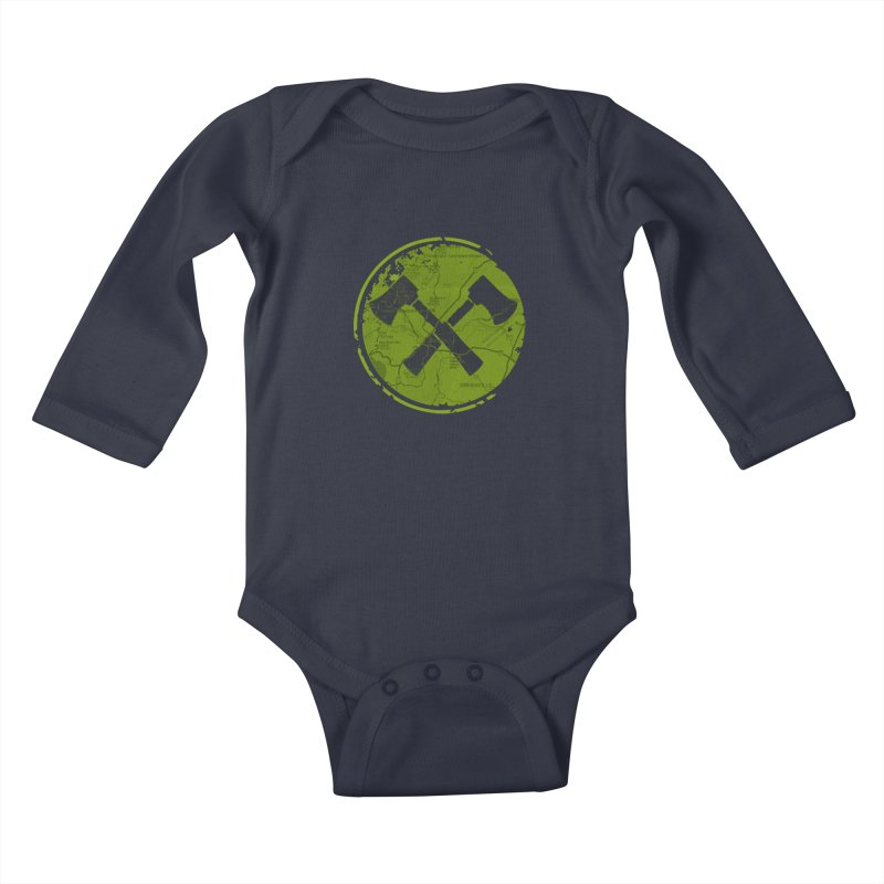 Trail Maker AVL Ed. Kids Baby Longsleeve Bodysuit by CRANK. outdoors + music lifestyle clothing