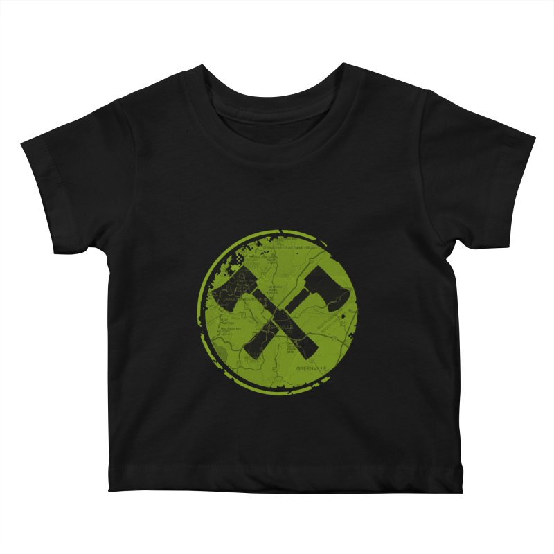 Trail Maker AVL Ed. Kids Baby T-Shirt by CRANK. outdoors + music lifestyle clothing