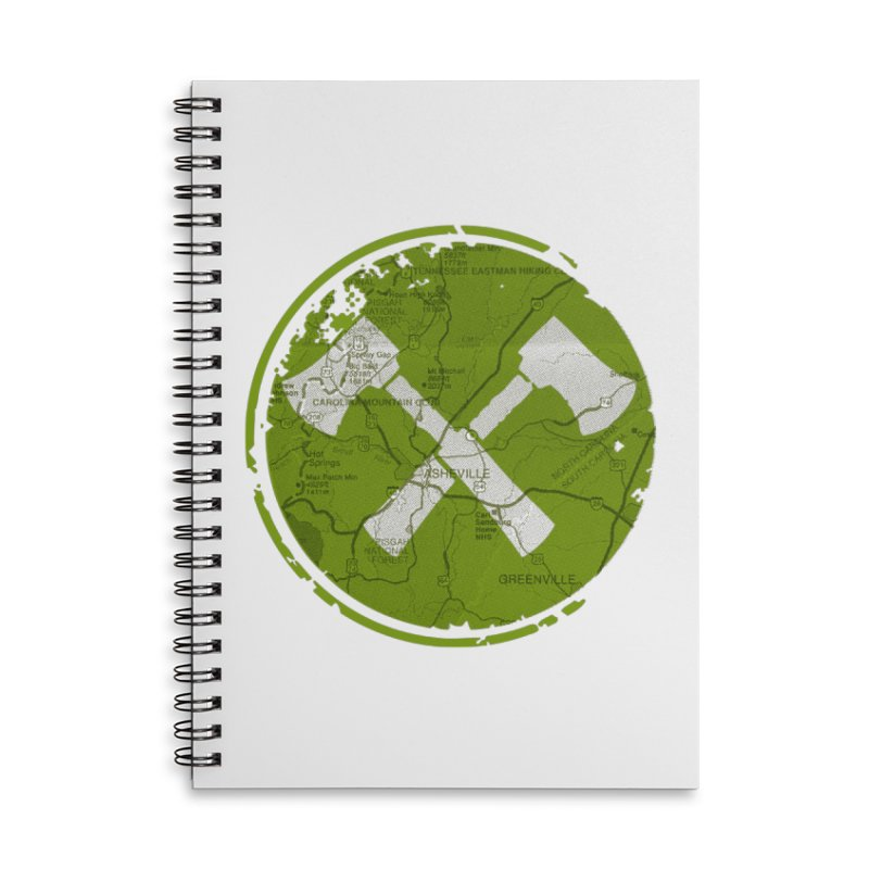 Trail Maker AVL Ed. Accessories Lined Spiral Notebook by CRANK. outdoors + music lifestyle clothing
