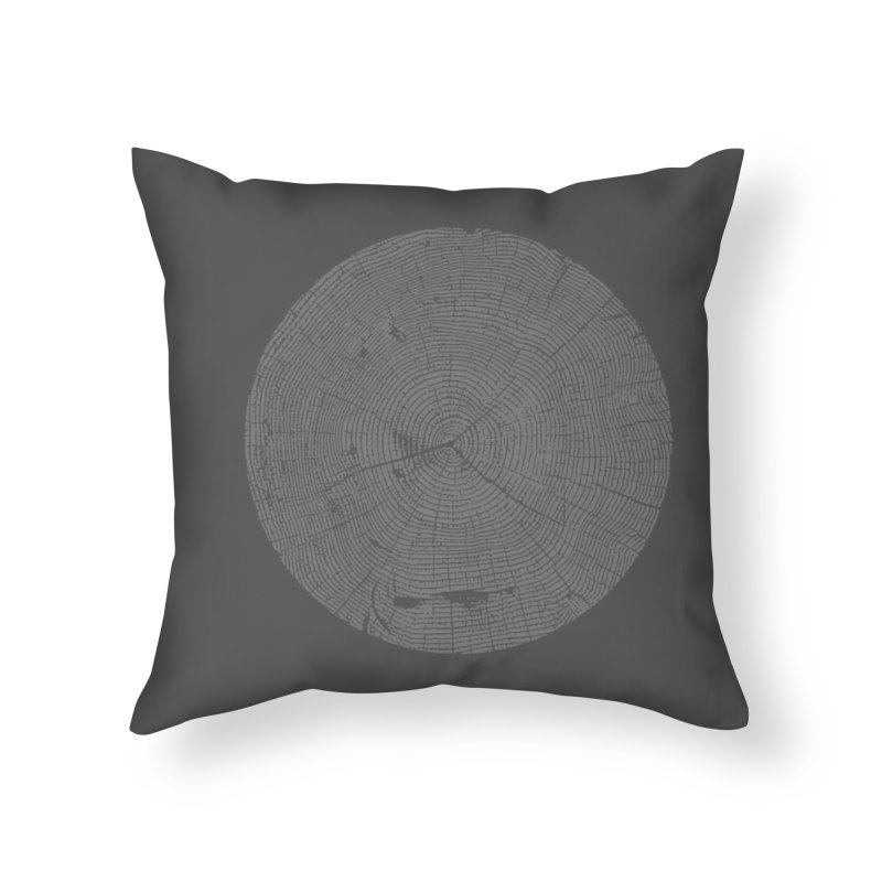 Wisdom Tree Rings Home Throw Pillow by CRANK. outdoors + music lifestyle clothing