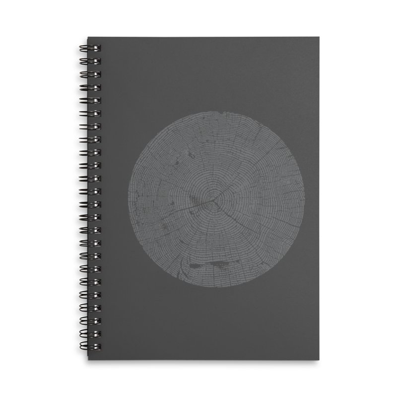 Wisdom Tree Rings Accessories Lined Spiral Notebook by CRANK. outdoors + music lifestyle clothing