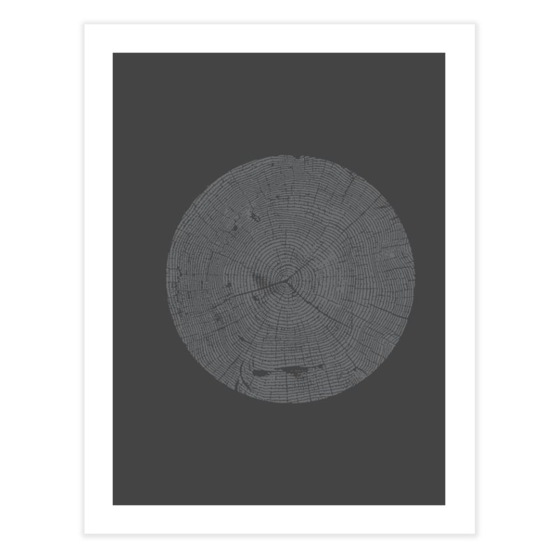 Wisdom Tree Rings Home Fine Art Print by CRANK. outdoors + music lifestyle clothing