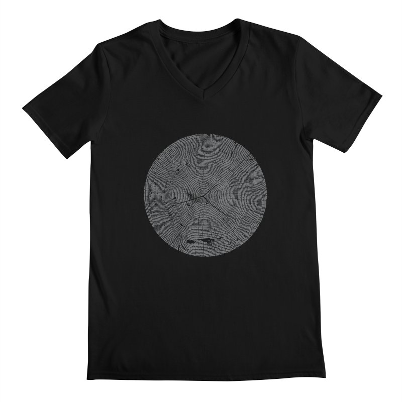 Wisdom Tree Rings Men's Regular V-Neck by CRANK. outdoors + music lifestyle clothing