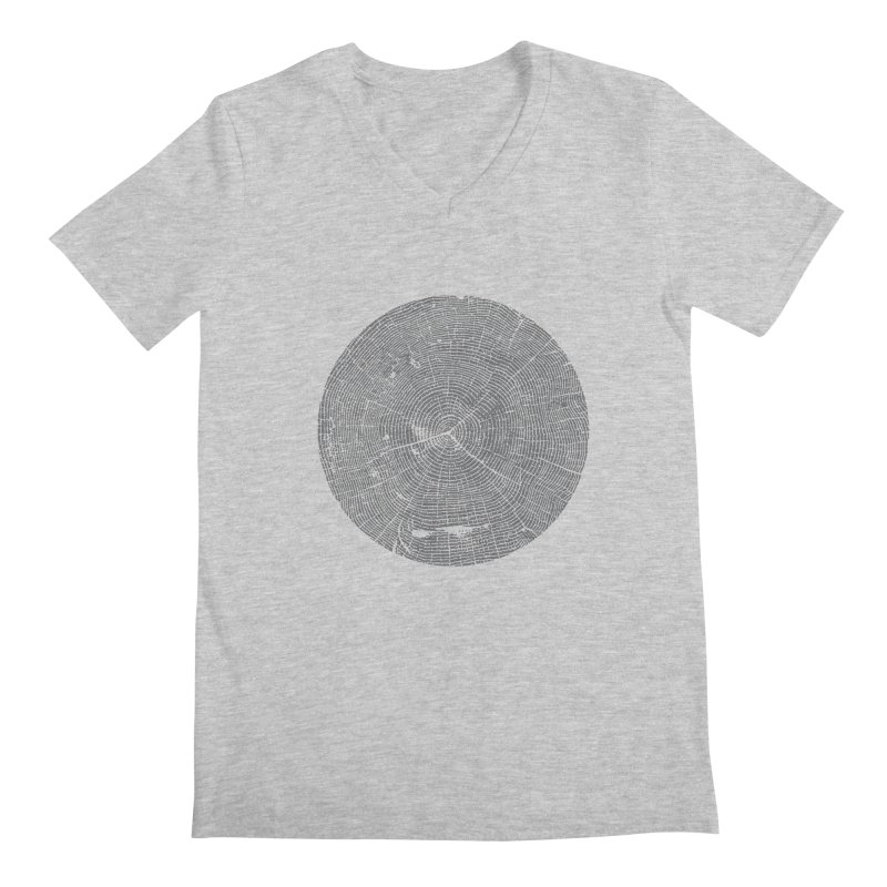 Wisdom Tree Rings Men's V-Neck by CRANK. outdoors + music lifestyle clothing