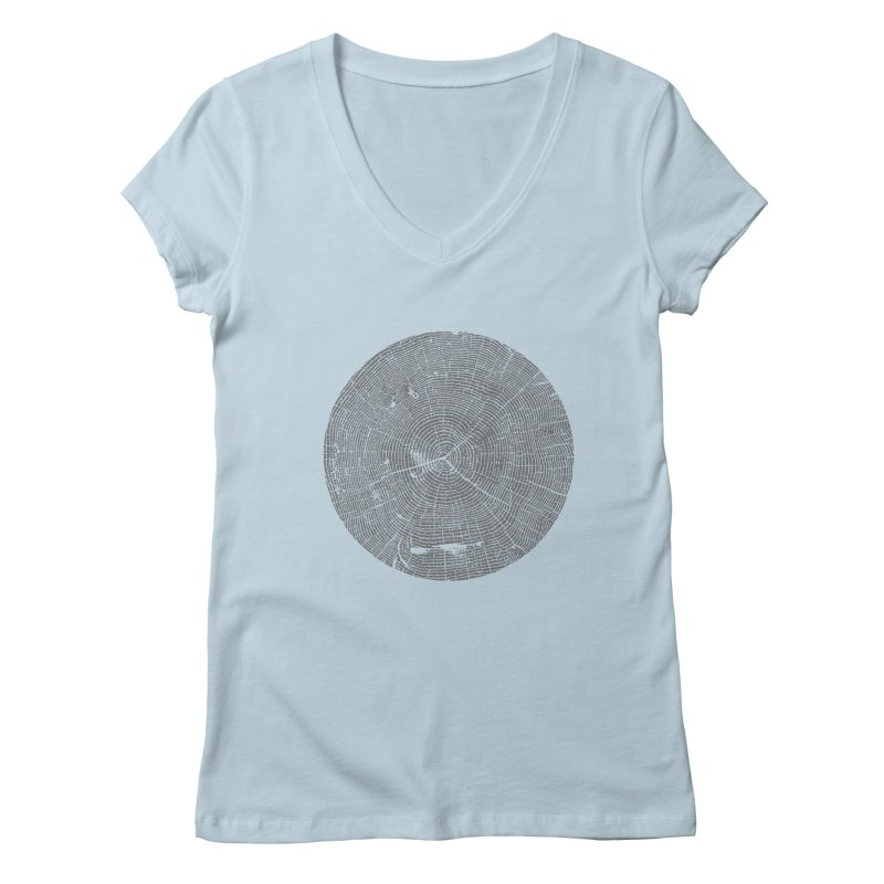 Wisdom Tree Rings Women's V-Neck by CRANK. outdoors + music lifestyle clothing