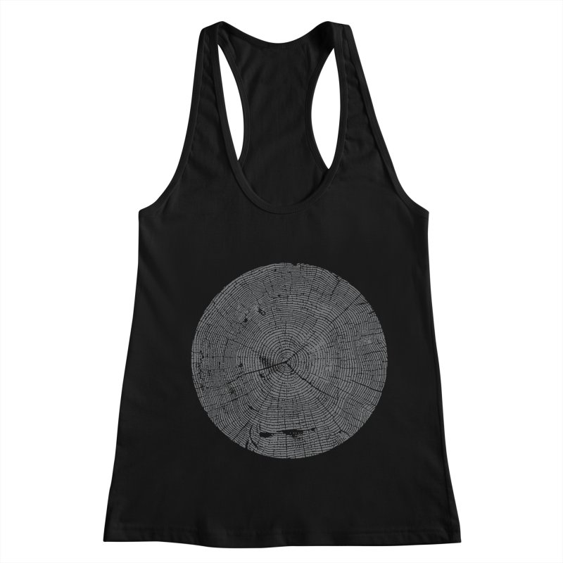Wisdom Tree Rings Women's Racerback Tank by CRANK. outdoors + music lifestyle clothing