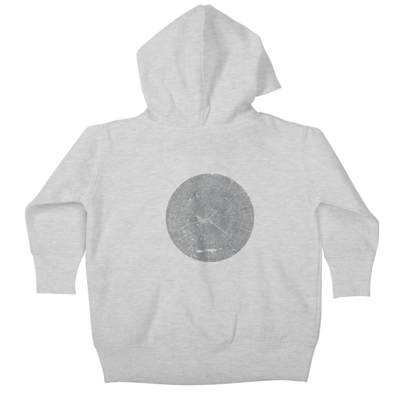 Wisdom Tree Rings Kids Baby Zip-Up Hoody by CRANK. outdoors + music lifestyle clothing
