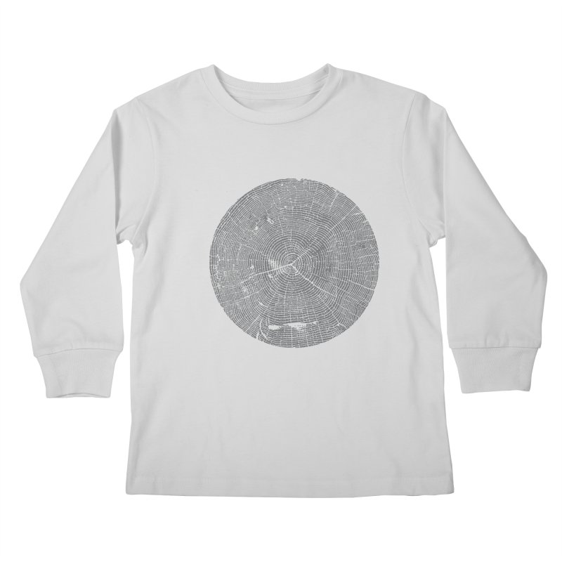 Wisdom Tree Rings Kids Longsleeve T-Shirt by CRANK. outdoors + music lifestyle clothing