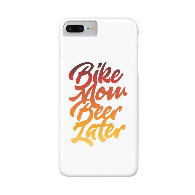 Bike Now Beer Later Accessories Phone Case by CRANK. outdoors + music lifestyle clothing
