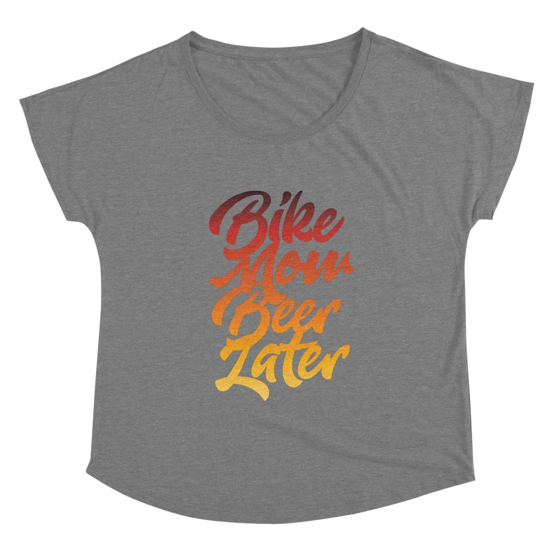 Bike Now Beer Later Women's Scoop Neck by CRANK. outdoors + music lifestyle clothing