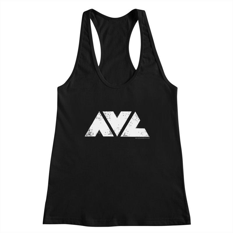AVL #rideasheville  Women's Racerback Tank by CRANK. outdoors + music lifestyle clothing