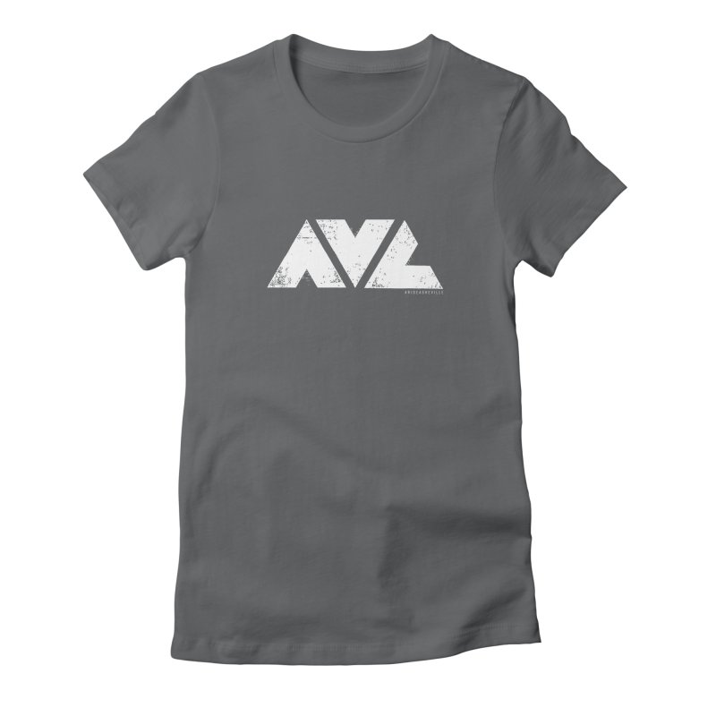 AVL #rideasheville  Women's Fitted T-Shirt by CRANK. outdoors + music lifestyle clothing