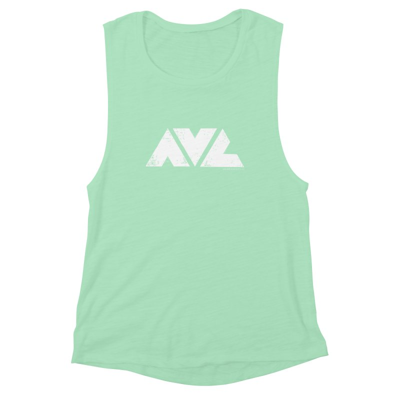 AVL #rideasheville  Women's Muscle Tank by CRANK. outdoors + music lifestyle clothing