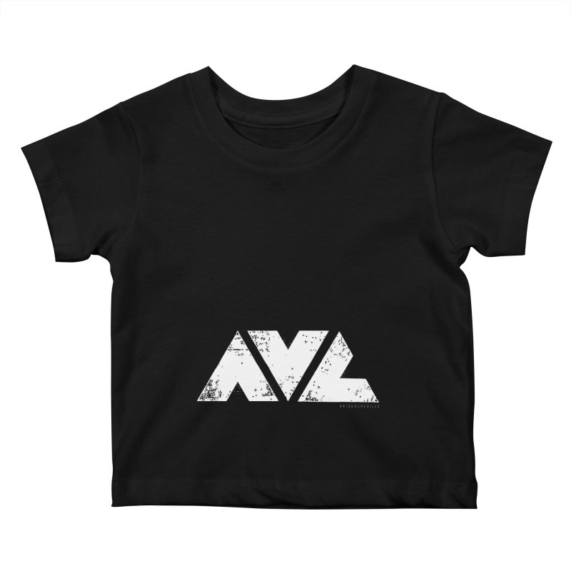 AVL #rideasheville BIG Kids Baby T-Shirt by CRANK. outdoors + music lifestyle clothing